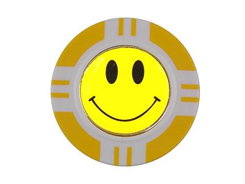 magnetisch Poker Chip und Gelb Smiley, Ball Marker von Mercia Golf.