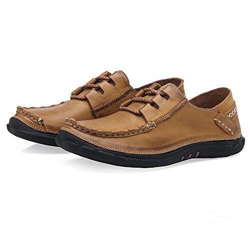 Herren Leder Schuhe Herren Braun Outdoor im Freien Schuhe der Erste Schicht der Haut - Kurzschaft Handgearbeitete Schuhe Geld