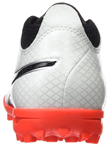 Puma One 17.4 TT, Chaussures de Football Homme Blanc (White-black-fiery Coral)