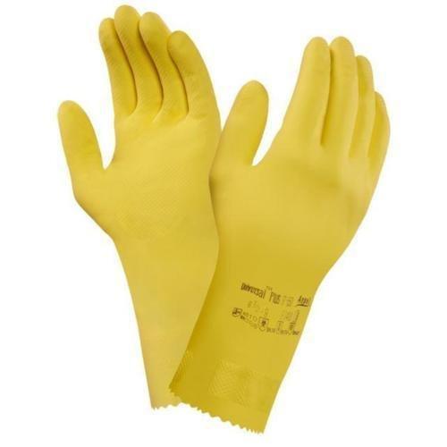 Ansell 87–650–6.5–7.0 Gants de sécurité, petit, jaune (Lot de 12)