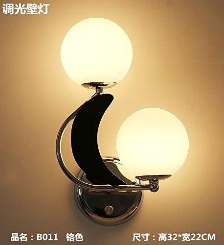 YYHAOGE Zugschalter Wand Lampe Schlafzimmer Wohnzimmer Led Nachttischlampe Studie Treppe Passage Balkon Licht, B 011 + Led 5 Watt Dimmer Glühlampen (Helligkeitsregler) -