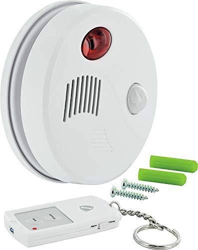 SCHWAIGER -5521- Decken-Alarm Bewegungsmelder innen/Bewegungssensor/Alarmanlage fürs Haus/Sirene/Einbruchschutz/Fenster-Sicherung/Tür-Sicherung