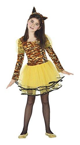 ATOSA 26491 - Tigerin, Mädchen, Größe 116, braun/gelb