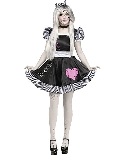 Damen French Maid Kleid Zimmermädchen Kostüm Hausmädchen Fancy Kleider Dienstmädchen Dienerin Minikleid Outfit Für Halloween Party Fasching Karneval Cosplay Schwarz (Halloween French Maid)