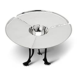 Aarya 24kt Da-Plataa silver plated PLATTER - CHIP N DIP (CHIP N DIP) for home