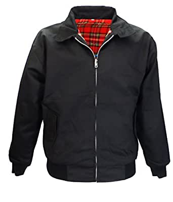 Harrington Jacket Retro/Mod/ScooterXS-3XL (x small, black)