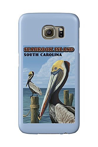 Seabrook Island, South Carolina - Pelicans (Galaxy S6 Cell Phone Case, Slim Barely There) -