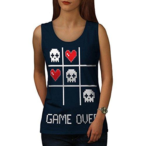 Spiel Nerd Computer Geek Damen Schwarz S-2XL Muskelshirt | Wellcoda Marine
