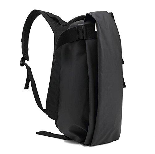 Z&N Panno di Oxford creativo casual zaino zaino impermeabile del computer viaggio all'aperto palestra borsa attrezzature da campeggio uomini e donneblack A12L black A
