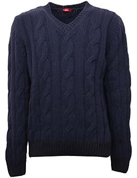 B5201 maglione uomo ALTEA lana blu sweater men