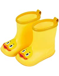 Saingace Water Shoes for Kids, Boys Girls Baby Cute Cartoon Duck/Frog/Elephant/Bunny Rubber Waterproof Boots Shoes Rain Boots