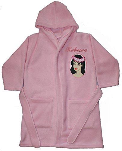 Moana Island Princess Personalised & Applique Super Soft Fleece Dressing Gown/Bathrobe (BABY PINK - MOANA 2)