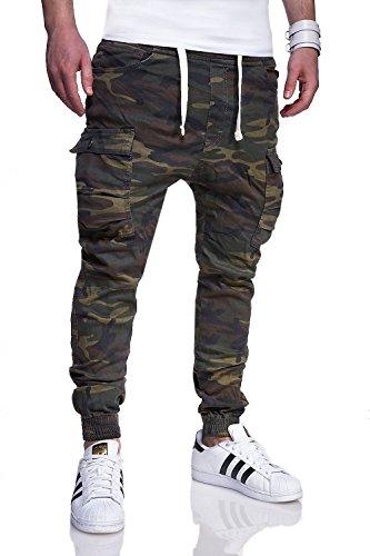 MT Styles Cargo Jogging-Jeans Camouflage pantalon RJ-3188 Kaki