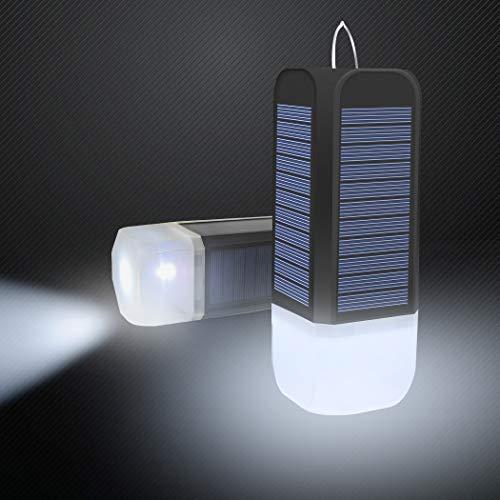 LED Campinglampe Solar Lampe Camping Laterne USB Aufladbar mit eingebauten Batterien IP44 Wasserdicht Tragbare Solarlampe Gartenlaterne Taschenlampe,5 Licht Modi für Zelten,Camping, Angeln,Wandern