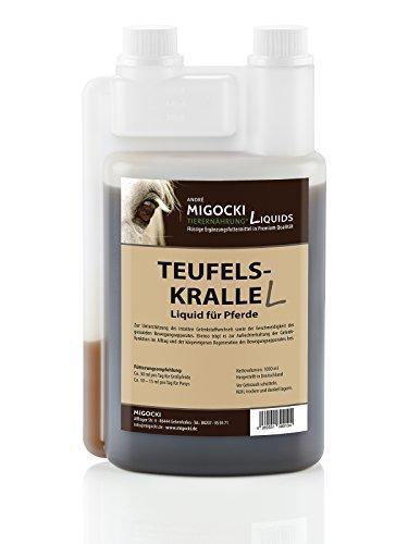 Migocki TEUFELSKRALLE Liquid – Ergänzungsfuttermittel für Pferde - Unterstützt den gesunden Gelenkstoffwechsel für mehr Mobilität des Bewegungsapparates – Dosierflasche 1000 ml