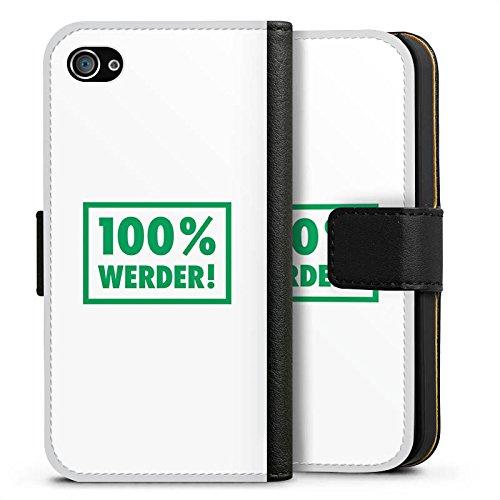 Apple iPhone X Silikon Hülle Case Schutzhülle SV Werder Bremen Fanartikel Bundesliga Sideflip Tasche schwarz