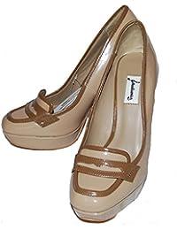 Inditex Stradivarius - Zapatos de vestir de charol para mujer beige beige