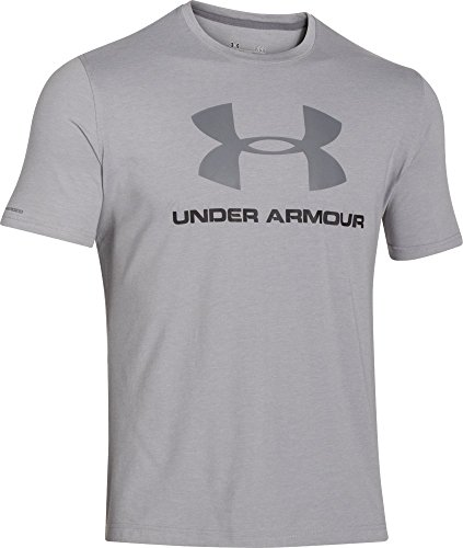 Under Armour CC Sportstyle Logo Maglia a Maniche Corte Uomo - Grigio (Grigio (True Gray Heather)) - XL