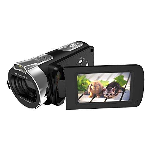 """Kamera Camcorder LESHP Protable FHD1080p Max 24,0 Megapixeln 16fach Digitalzoom Camcorder mit 2,7 """"LCD und 270 Grad Drehung Bildschirm"""