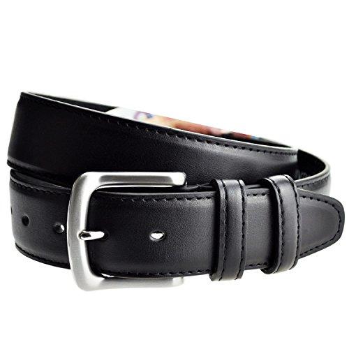 Livan® ceinture cache billet à fermeture éclaire zip longue doublé en cuir TU 105 CM homme neuf L0040