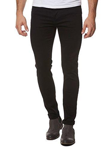 Robins Männer Jeans (TIGHA ROBIN JEANS RÖHRE HERREN HOSE SCHWARZ ROBIN 100997 BLACK MEN, Hosengröße:W30/L32)