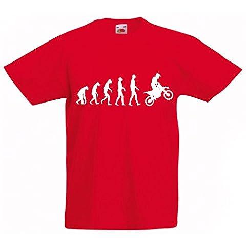 Maman Papa Fille Halloween - T-shirt pour enfants Evolution motorcyclist! (5-6 years