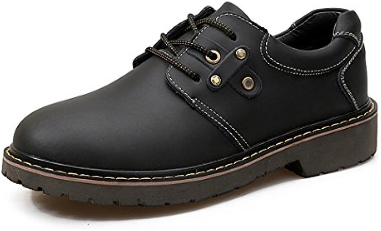 ZQ@QXDer Herbst Männer Ausruumlstung Schuhe retro Freizeit Outdoor tragen kurze Stiefel