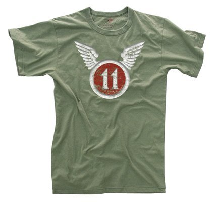 Rothco Vintage T-Shirt/11Th Airborne (Air Force Rothco)