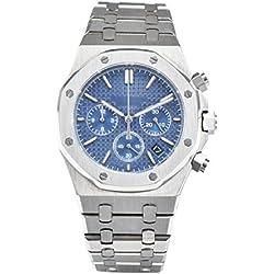 Reloj de pulsera (cronógrafo, 5 puntos) para hombre (9082), deportivo y elegante, resistente al agua (41 mm), cristal de zafiro, macizo, con cierre de mariposa y mecanismo de marca Miyota