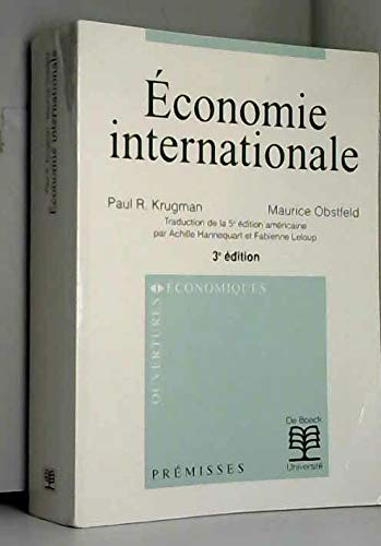 Economie internationale par Paul R. Krugman