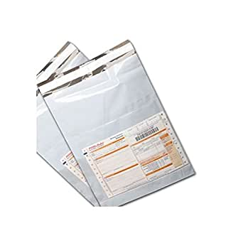 (2000 Quantity) 10 X 12 Inch Tamper Proof Plastic Courier Bags Envelopes 60 Micron with POD Pouch - Manufactured with Flap and Hot melt Pressure Adhesive Strip for Easy & Permanent Closure - Perfect For Mailing of Invoices, Important Papers, Cheques, DVD's, CD's, Brochures, Samples, Garments, Online Resellers, Leaflets, etc.
