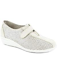 Zapato Mujer Tipo Deportivo de la Marca DOCTOR CUTILLAS, en Piel Nobuk Color Salinas,