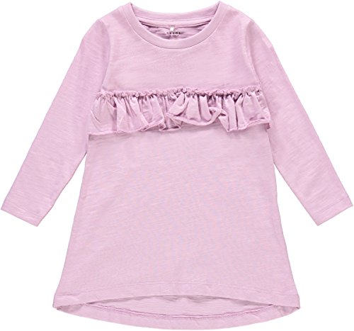 NAME IT Tunika Sweatshirt Bio Baumwolle 13156539 Mauve Mist Gr.98 -