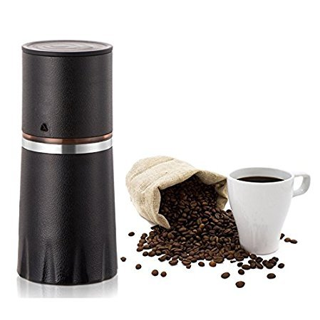 TDH Manual Coffee Grinder Filter Cup Coffee Brewer, Portable Coffee Maker, All-in-One Coffee Machine Cup for Travel Home Gift (Black-2) 41KwYeOctSL