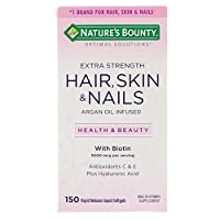 Nature's Bounty Extra Strength Hair, Skin & Nails - 5,000mcg, 150 Softgels