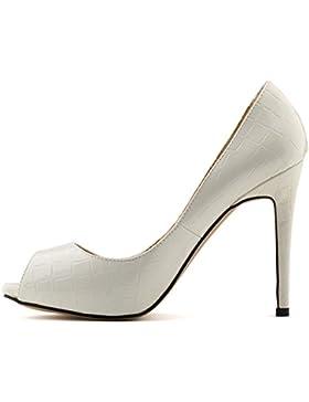 MEI&S Donna Bocca di pesce Stiletto bocca poco profonda Prom Tacchi Alti Wedding Corte pompe scarpe