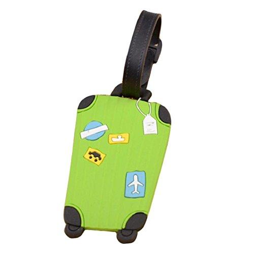 Etiqueta para equipaje,Tongshi viajar identificatoria tarjetero maleta etiqueta la etiqueta para equipaje bolso maleta (Rosado)