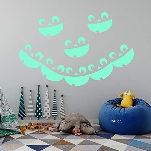 HARRYSTORE Halloween Hexe Hintergrund Eingerichtetes Wohnzimmer Schlafzimmerwand Aufkleber Grimmig Rea