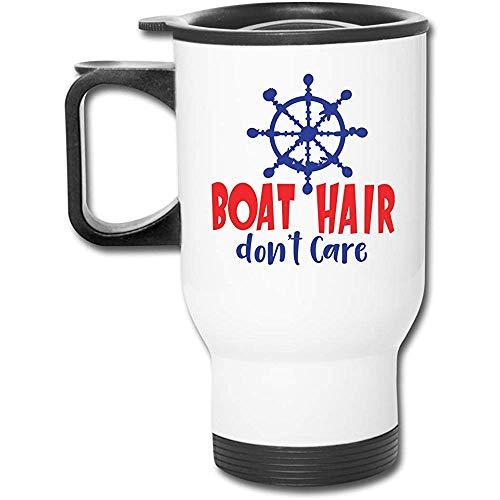 Little Yi Bootshaar Don 'T Care Edelstahl Reisebecher Becher Tee Tasse Kaffee Auto Tasse