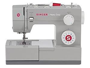 SINGER Heavy Duty - Máquina de coser (Eléctrico, Gris, El pie para ojales, Cubrir) de SINGER