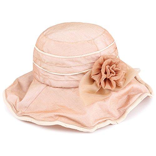 Visière de dames/ automne chapeaux d'UV/Chapeau de plage pliable/Fleur soie coréenne chapeaux de soleil A