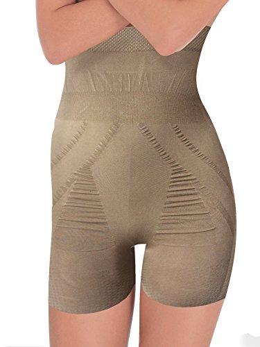 Guaina Pantaloncino Seamless Gamba Lunga G3005 senza cuciture Contenitiva Modellante e Riducente su Pancia e Gambe, Posteriore Anatomico Solleva i Glutei Effetto Push-Up Tessuto Micromassaggiante