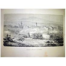 Antiguo Grabado - Old Engraved : ANALES DE LA GUERRA CIVIL, ACCIÓN DE MONREAL