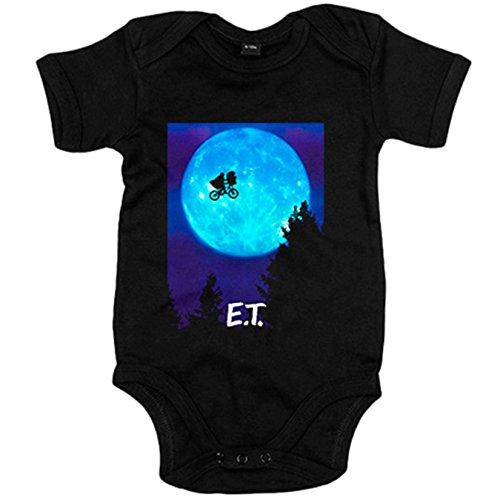 Body bebé ET El Extraterrestre póster película - Negro, 6-12 meses