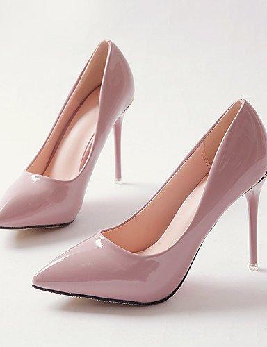 WSS 2016 Chaussures Femme-Habillé / Soirée & Evénement-Noir / Rose / Rouge / Blanc-Talon Aiguille-Talons / Escarpin Basique / Bout Pointu-Talons- pink-us5.5 / eu36 / uk3.5 / cn35