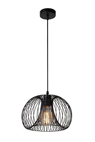 Lucide VINTI Interior E27 A++ Negro iluminación de techo - Lámpara (Dormitorio,...