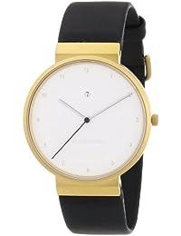 """Jacob Jensen """"Watch Dimension 863"""" - Reloj de caballero de cuarzo, correa de piel color negro"""