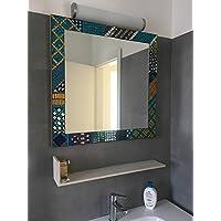 Specchi Grandi Con Cornice.Mosaico Bagno Specchi Da Parete Specchi Amazon It