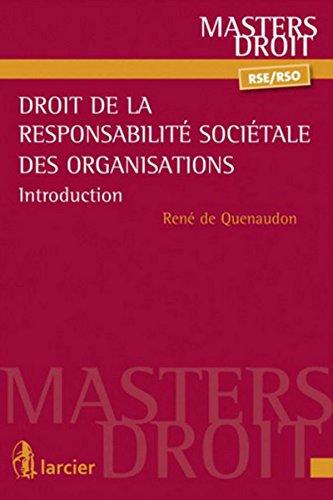 Droit de la responsabilité sociétale des organisations (RSO): Introduction