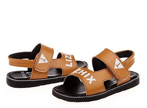 Ohmais Enfants Garçons Chaussure sandale premier pas Escarpin Kaki